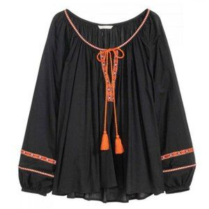 NWT H&M Embroidered Peasant Top Size 6